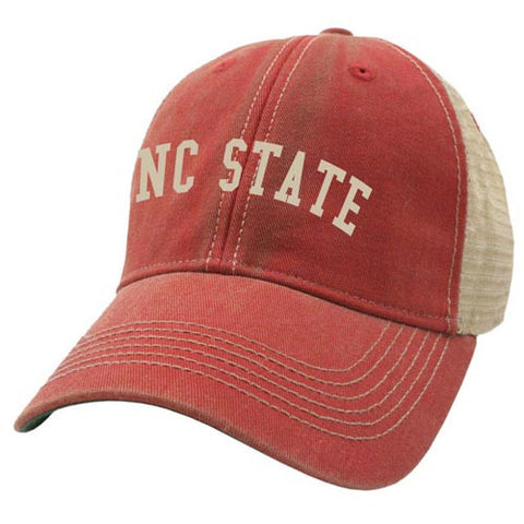 NC State Wolfpack Red Radius Vegas Gold Trucker Mesh Back Adjustable Hat