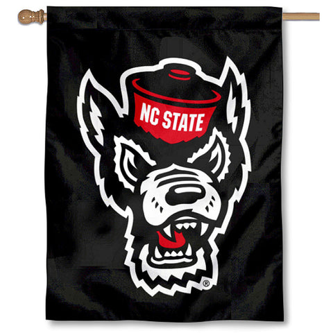 NC State Wolfpack 30x40 Black Wolfhead Banner