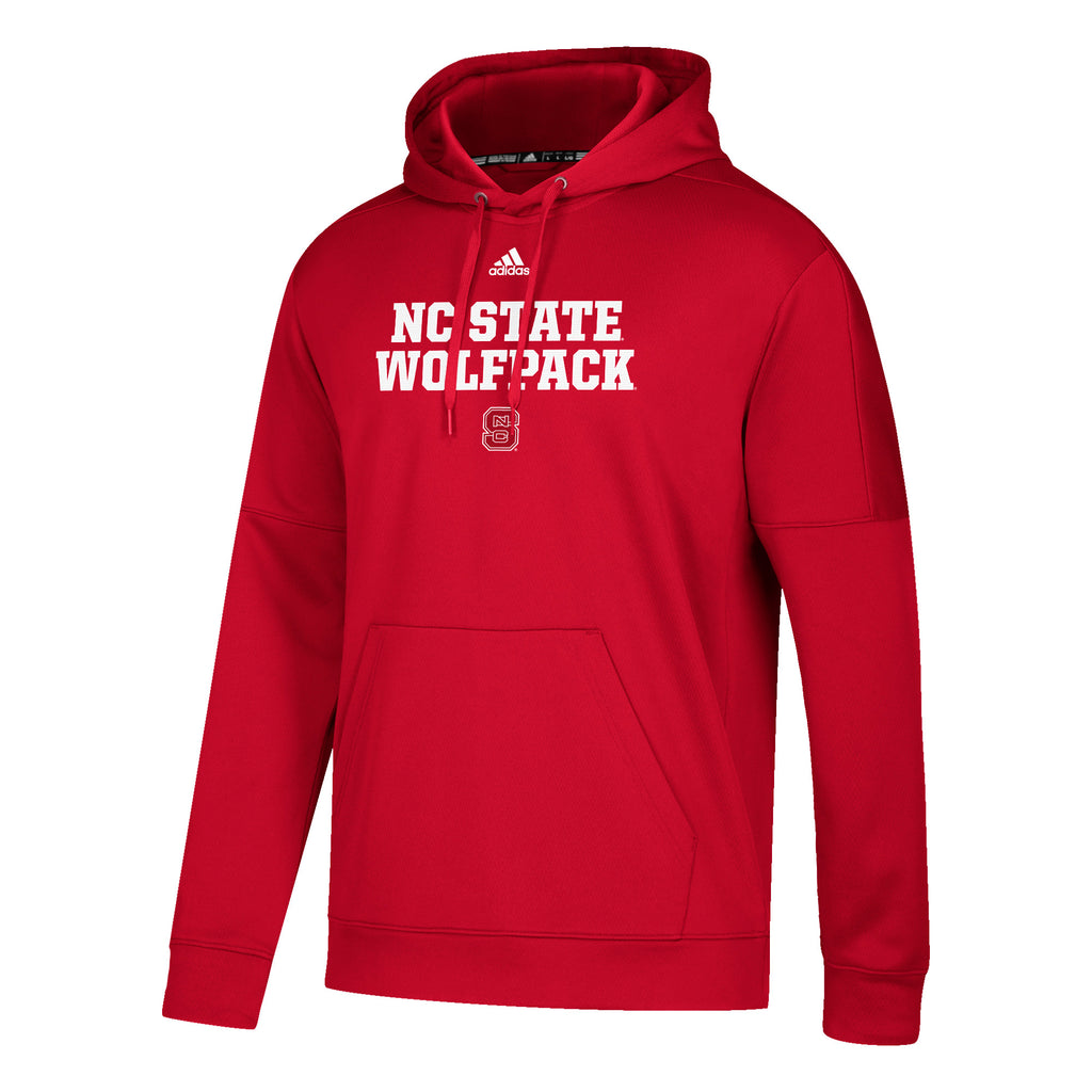 NC State Wolfpack Adidas Red Block S Climalite Hooded Sweatshirt