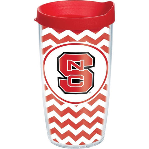 NC State Wolfpack Chevron Wrap Tervis Tumbler w/Lid