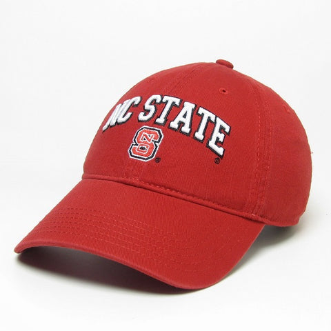 NC State Wolfpack Red Block S Relaxed Twill Adjustable Hat