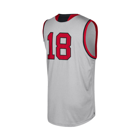 NC State Wolfpack Adidas Grey #18 Replica Basketball Jersey