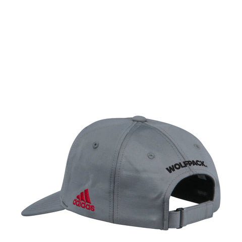 NC State Wolfpack Adidas Grey 2018 Spring Game Block S Adjustable Hat