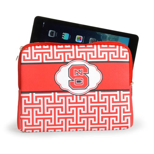 NC State Wolfpack Greek Key Design iPad/Tablet Case