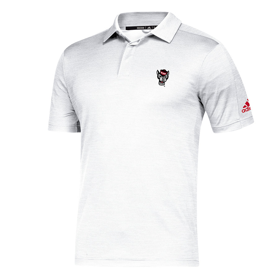 NC State Wolfpack Adidas White Wolfhead Game Mode Coaches Sideline Polo
