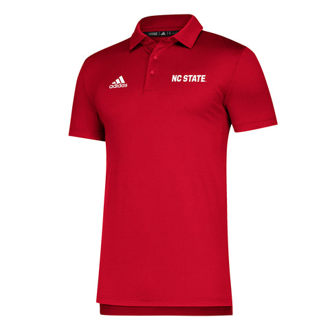 NC State Wolfpack Adidas Red Game Mode NC State Coaches Sideline Polo