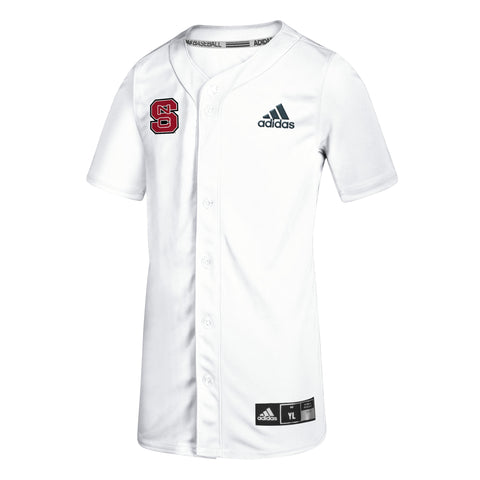 NC State Wolfpack Adidas Youth White #19 Elite Baseball Jersey