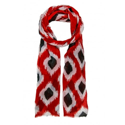 NC State Wolfpack Red and Black Ikat Scarf