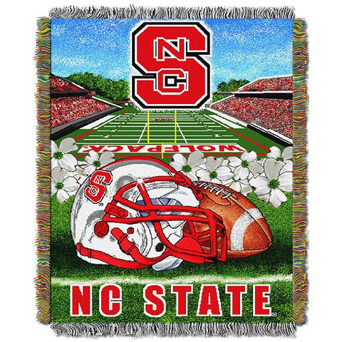 NC State Wolfpack Woven Tapestry Football Throw