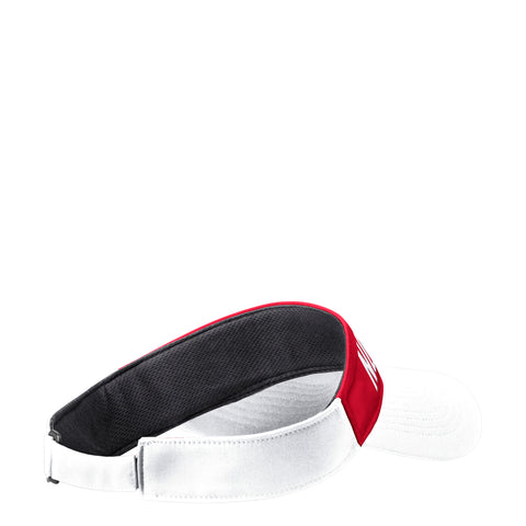 NC State Wolfpack Adidas White NC STATE Red and White Coaches Visor