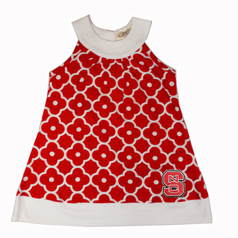 NC State Wolfpack Toddler Lauren Flower Sleeveless Dress