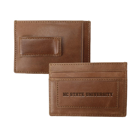 NC State Wolfpack Tan Sierra Money Clip Card Holder Wallet