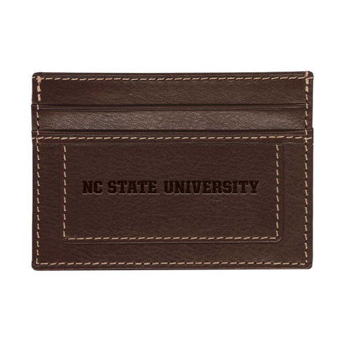 NC State Wolfpack Brown Sierra Card Holder Wallet