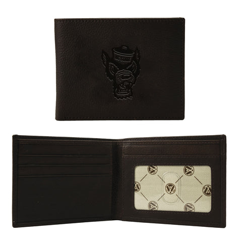 NC State Wolfpack Brown Cambridge Wolfhead Bifold Wallet