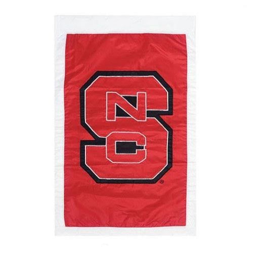 NC State Wolfpack 44X28 Double Sided White Trim House Flag