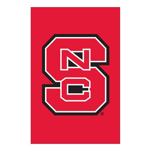 NC State Wolfpack Red Decorative Block S Garden Flag