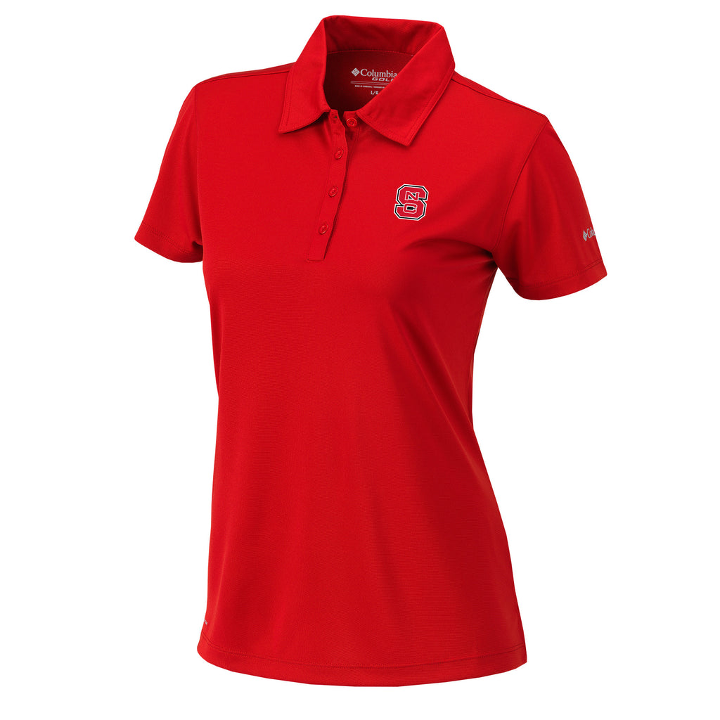 NC State Wolfpack Women's Columbia OmniWick Red Birdie Polo
