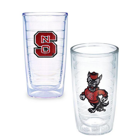 NC State Wolfpack Strutting Wolf and Block S. Tervis Tumbler 2 Pack
