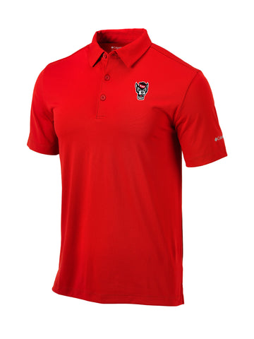 NC State Wolfpack Columbia Red Omni-Wick Wolfhead Drive Polo