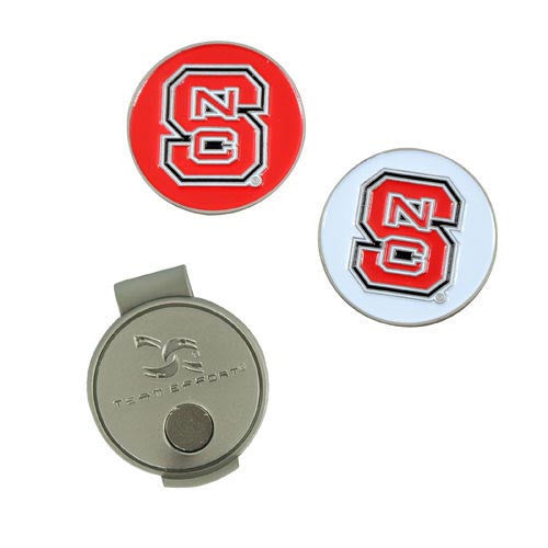 NC State Wolfpack Hat Clip & Ball Markers