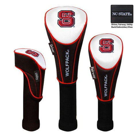 NC State Wolfpack Set of 3 Nylon Headcovers