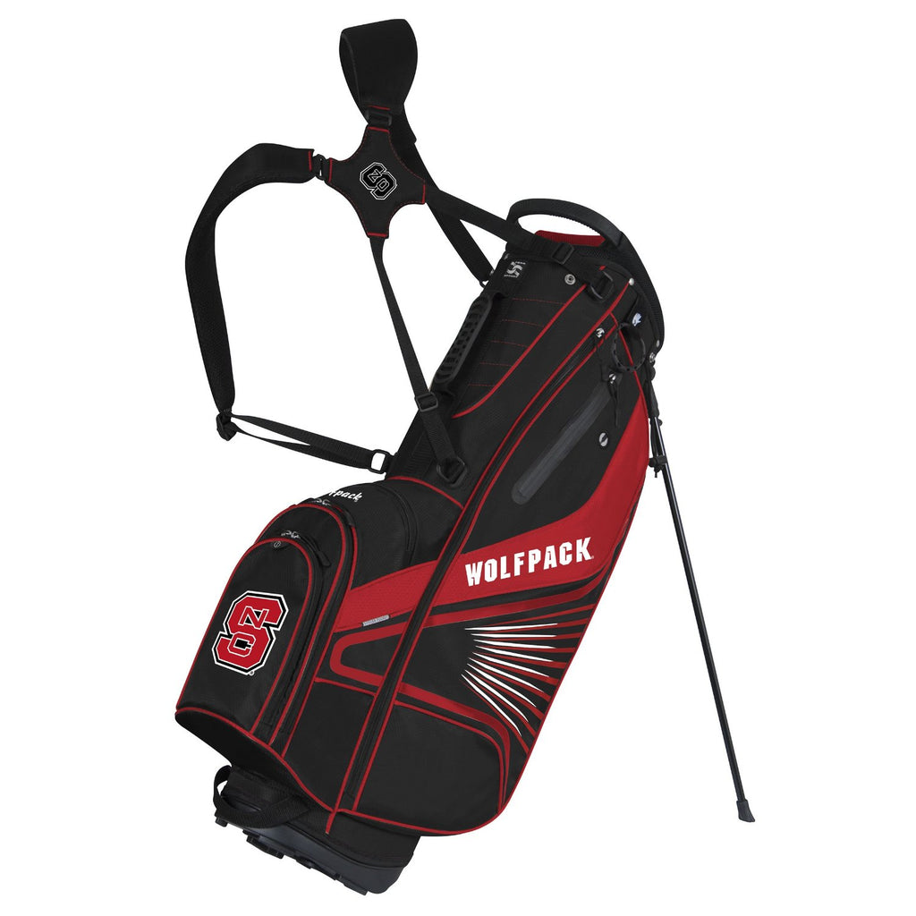 NC State Wolfpack GridIron II Stand Golf Bag