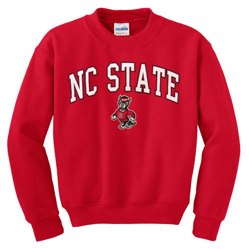 NC State Wolfpack Red Signature Strutting Wolf Crew Neck Sweatshirt