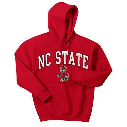 North Carolina State Wolfpack Red Signature Strut Youth Hooded Sweatshirt.