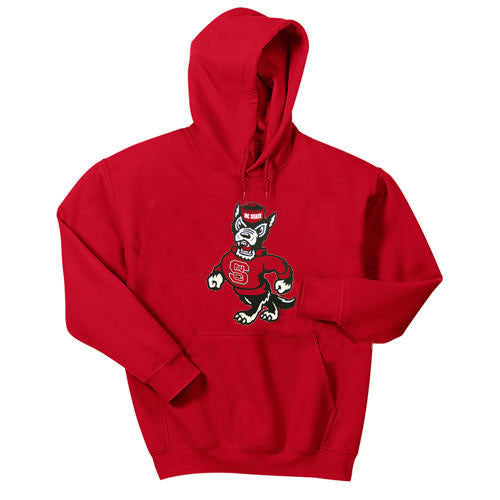 NC State Wolfpack Red Strutting Wolf Youth Hooded Sweatshirt