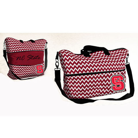 NC State Wolfpack Chevron Print Expandable Bag