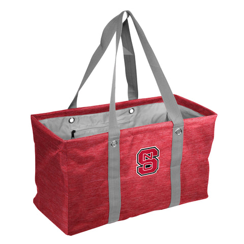 NC State Wolfpack Heathered Red Block S Picnic Caddy