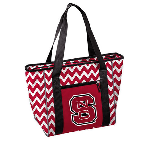 NC State Wolfpack Chevron Design 30 Can Cooler Tote
