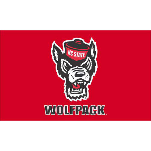 NC State Wolfpack Red Wolf 3X5 Flag