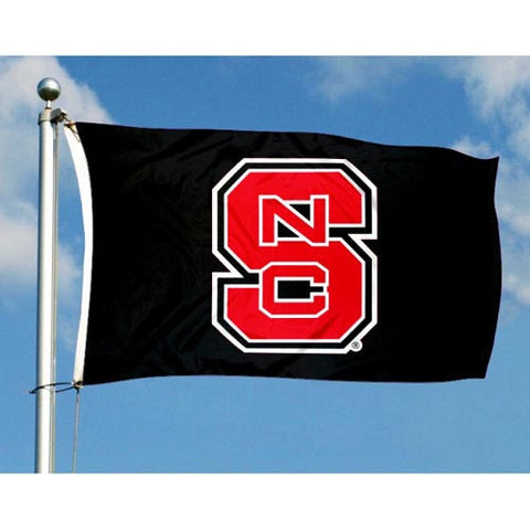 NC State Wolfpack Black Block S 3X5 Flag