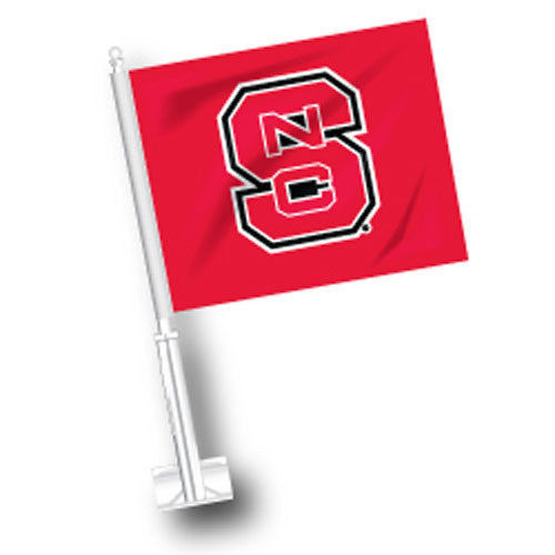 NC State Wolfpack Block S Car Flag