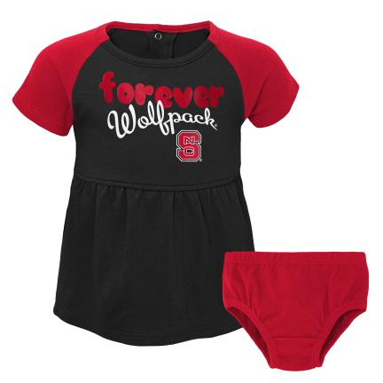 NC State Wolfpack Infant Formation Dress 2pc Set