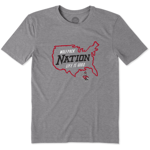 NC State Wolfpack Grey Nation Outline Cool T-Shirt