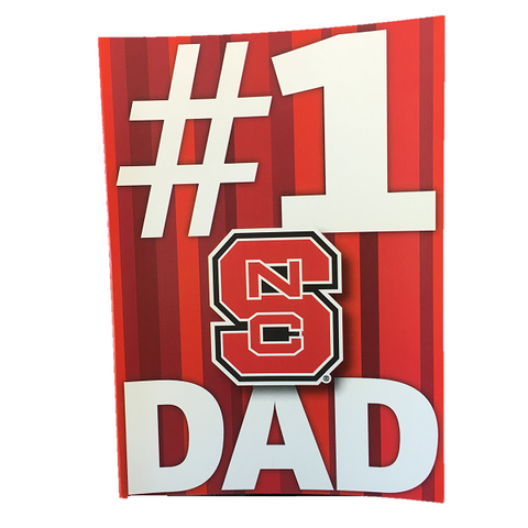 NC State Wolfpack Father's Day #1 Dad Card