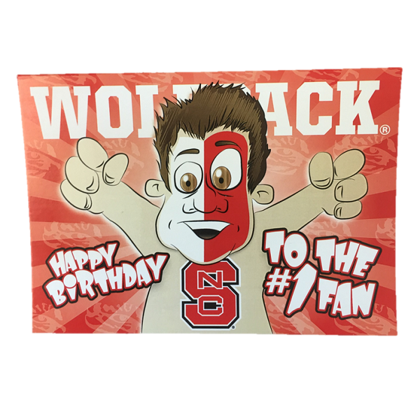 NC State Wolfpack Happy Birthday #1 Fan Card