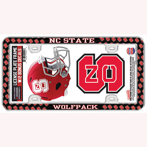NC State Wolfpack License Plate Frame w/ Decals
