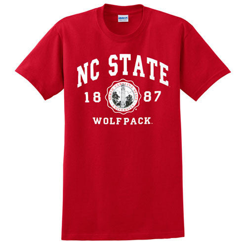 NC State Wolfpack Red Official Seal T-Shirt