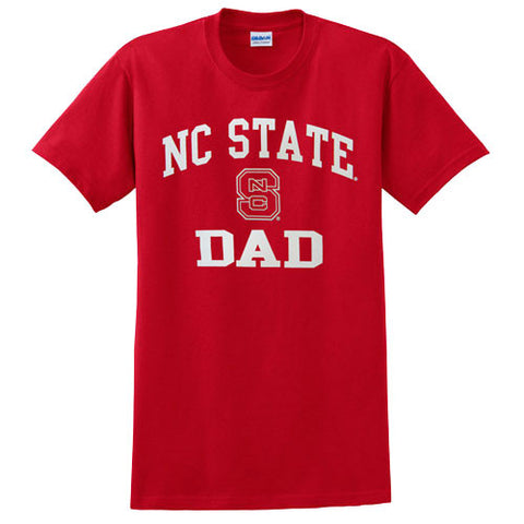 "NC State Wolfpack Red ""NC State Dad"" T-shirt"