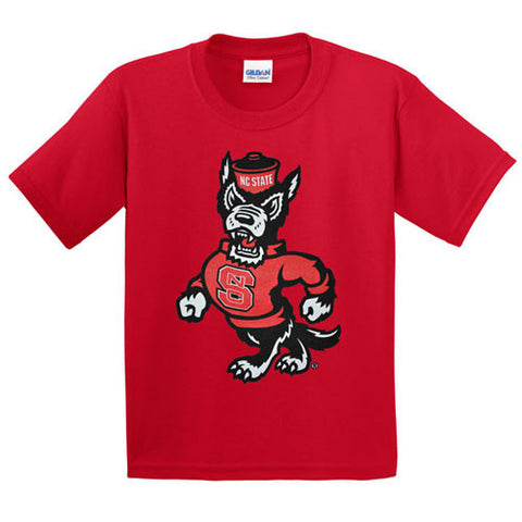 NC State Wolfpack Youth Red Strutting Wolf T-Shirt