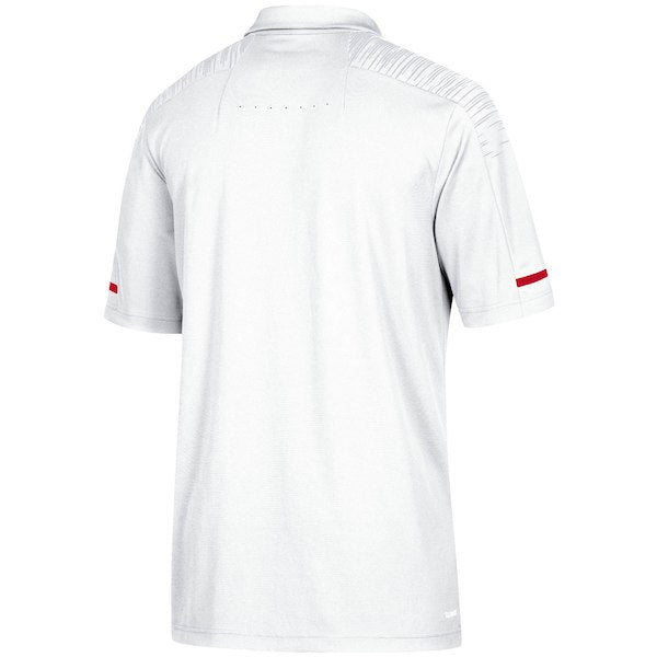NC State Wolfpack Adidas 2018 White Wolfhead Football Sideline Coaches Polo 1c0f27383