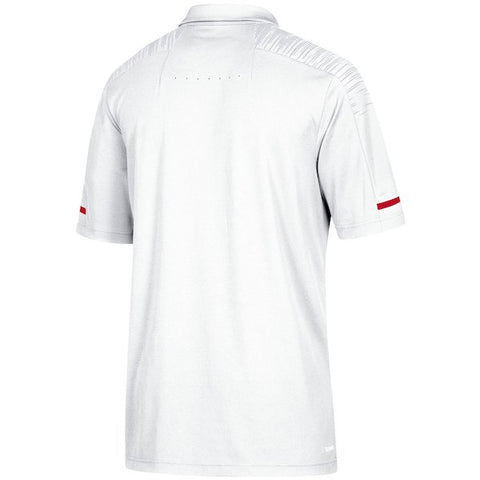 NC State Wolfpack Adidas 2018 White Wolfhead Football Sideline Coaches Polo