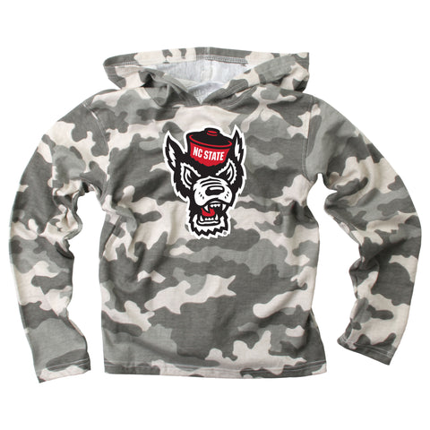 NC State Wolfpack Toddler Wolfhead Camo Hoodie