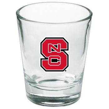 NC State Wolfpack Full Color Block S Shot Glass