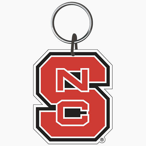 NC State Wolfpack Premium Block S Acrylic Key Ring