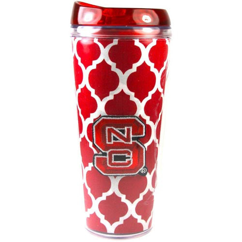 NC State Wolfpack Red Links Design 16oz Acrylic Cup w/ Lid