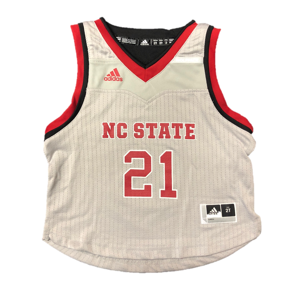 e7dbeccae74 NC State Wolfpack Adidas Kid s Grey  21 Replica Basketball Jersey – Red and  White Shop